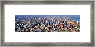 Panoramic Philly Skyline Aerial Photograph Framed Print by Duncan Pearson