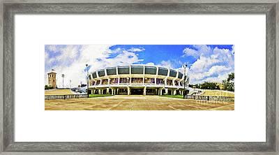 Panoramic Pmac - Digital Painting Framed Print