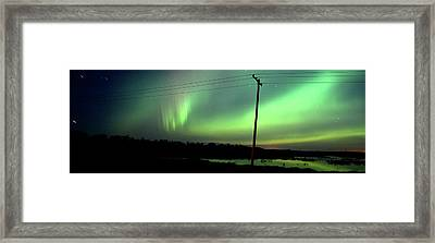 Panoramic Prairie Northern Lights Framed Print by Mark Duffy
