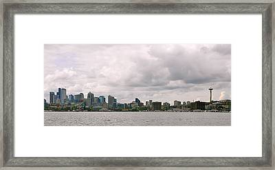 Panoramic Seattle Framed Print