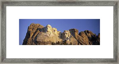 Panoramic Sunrise View On Presidents Framed Print