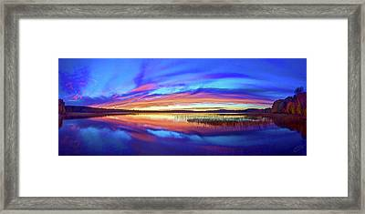 Panoramic Sunset At Round Lake Framed Print