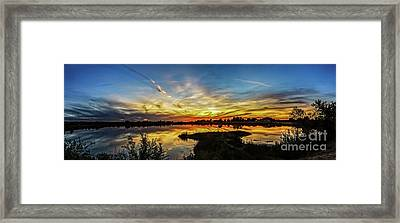 Panoramic Sunset Framed Print by Robert Bales