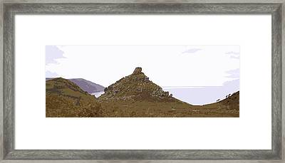 Panoramic Valley Of The Rocks Framed Print