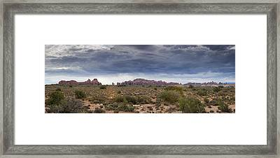 Panoramic View At Arches National Park Framed Print