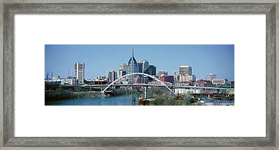 Panoramic View Of Bridge Framed Print by Panoramic Images