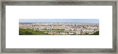 Panoramic View Of City Framed Print by Mikhail Lavrenov