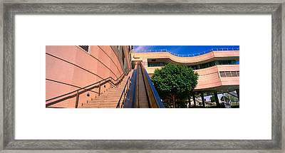 Panoramic View Of Escalator And Stairs Framed Print by Panoramic Images