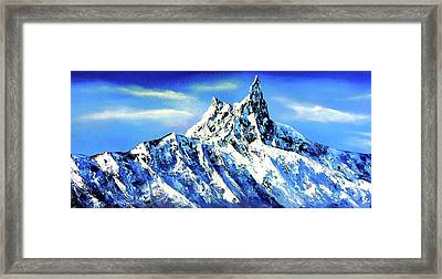 Panoramic View Of Everest Mountain Peak Framed Print