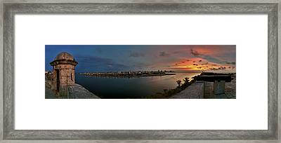 Panoramic View Of Havana From La Cabana. Cuba Framed Print