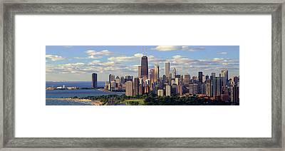Panoramic View Of Lake Michigan Framed Print by Panoramic Images