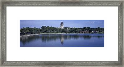 Panoramic View Of Lake With View Framed Print