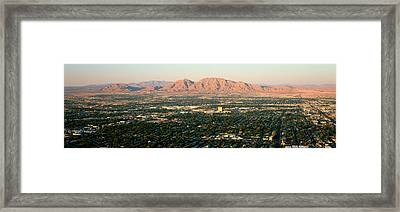 Panoramic View Of Las Vegas Nevada Framed Print by Panoramic Images