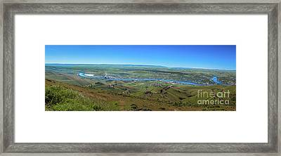 Panoramic View Of Lewiston Framed Print by Robert Bales