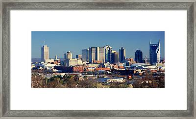 Panoramic View Of Nashville, Tennessee Framed Print