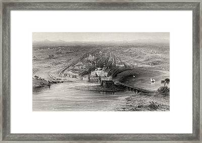 Panoramic View Of New And Old Delhi Framed Print