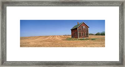 Panoramic View Of Old Farm Building Framed Print by Panoramic Images