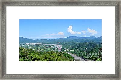 Framed Print featuring the photograph Panoramic View Of Southern Taiwan by Yali Shi