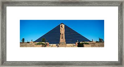 Panoramic View Of Statue Of Ramses Framed Print