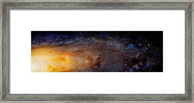 Panoramic View Of The Andromeda Galaxy Framed Print by Jennifer Rondinelli Reilly - Fine Art Photography