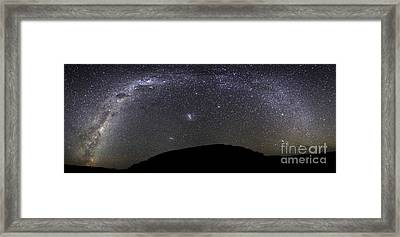 Panoramic View Of The Milky Way Framed Print by Luis Argerich