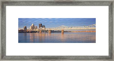 Panoramic View Of The Ohio River Framed Print