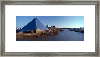 Panoramic View Of The Pyramid Sports Framed Print by Panoramic Images