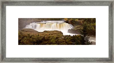 Panoramic Waterfall Manitoba Framed Print