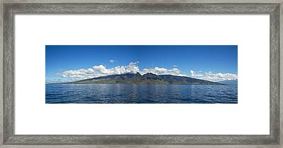 Panoramic West Maui Framed Print by Dave Fleetham - Printscapes