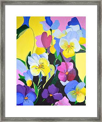 Pansies Framed Print by Donna Blossom
