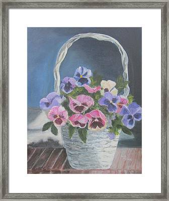 Pansies For A Friend Framed Print