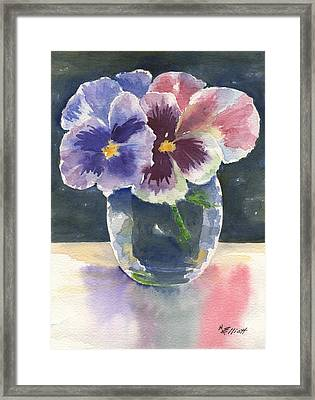 Pansies Framed Print by Marsha Elliott
