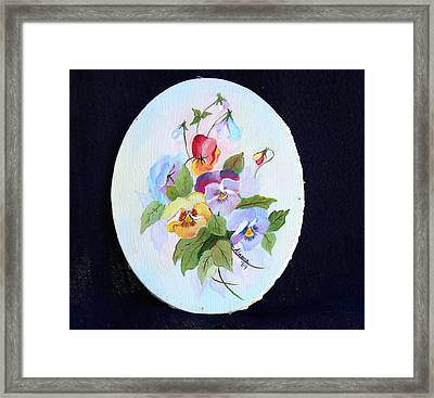 Pansies Posing Framed Print by Alanna Hug-McAnnally