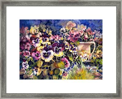 Pansy Garden Framed Print