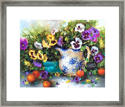 Pansy Panoply Framed Print