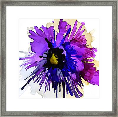 Pansy Punch Framed Print by Marla Beyer
