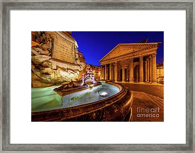Pantheon By Night Framed Print