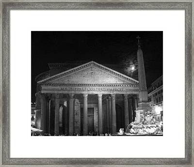 Pantheon Full Moon Framed Print by Alan Zeleznikar