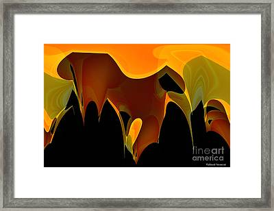 Panther In The Brush  Framed Print