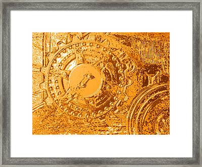 Panther Wheels Embossed Framed Print