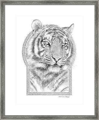 Panthera Tigris - Tiger The Circle Of Life Framed Print by Steven Paul Carlson