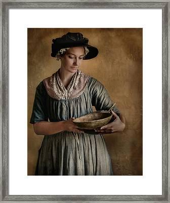 Pantry Pondering Framed Print by Robin-lee Vieira