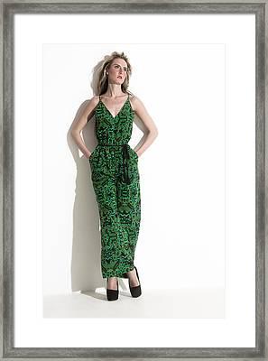 Pantsuit In Green Framed Print by Ralf Kaiser