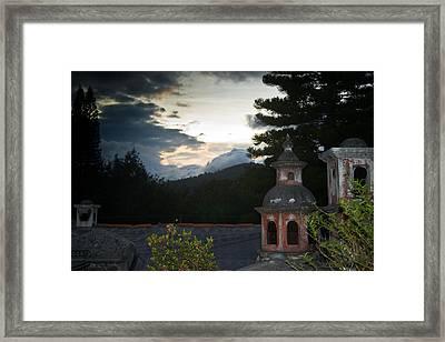 Panza Verde Hotel Roof Top 4 Framed Print by Douglas Barnett