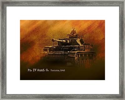 Framed Print featuring the digital art Panzer 4 Ausf G by John Wills
