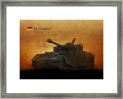 Framed Print featuring the digital art Panzer 4 Ausf H by John Wills
