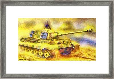 Panzer Tiger 2 - Pa Framed Print by Leonardo Digenio