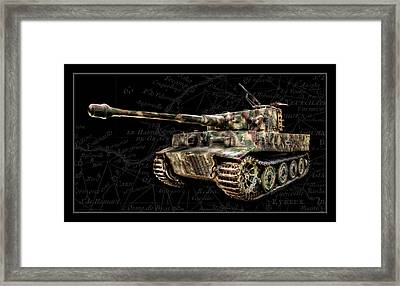 Panzer Tiger I Side Bk Bg Framed Print