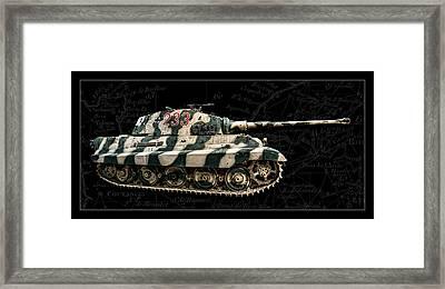 Panzer Tiger II Side Bk Bg Framed Print