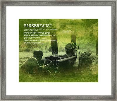 Panzerfaust In Action Framed Print by John Wills